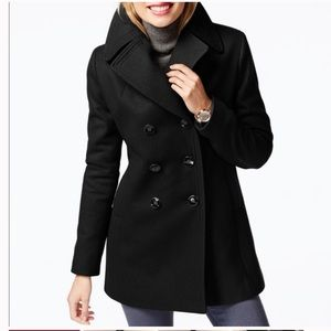J. Crew Double Breasted Wool Peacoat w Thinsulate